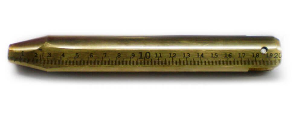 Латунный груз от рулетки массой 1 кг