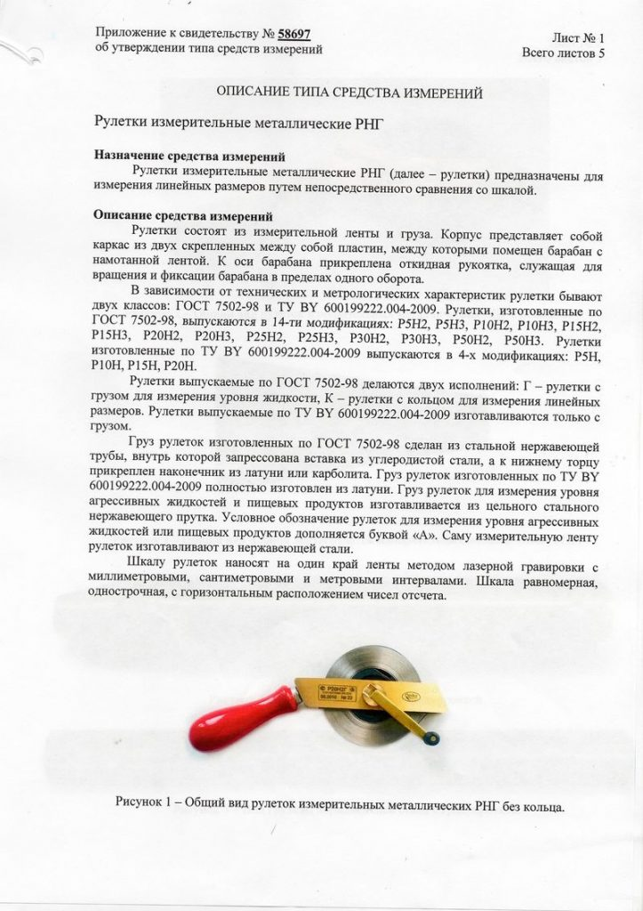 Приложение к сертификату